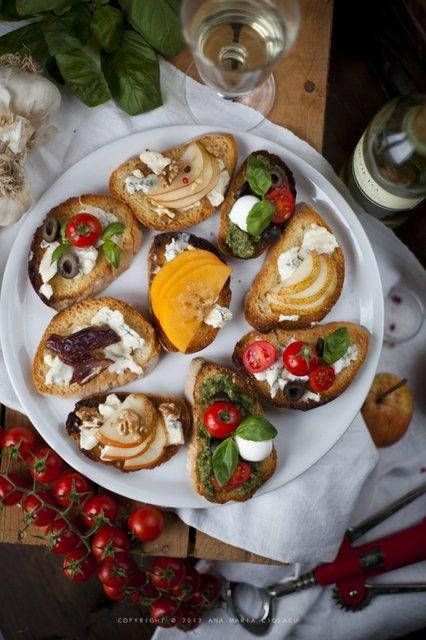 Ricetta Crostini Al Gorgonzola (2) – Antipasto