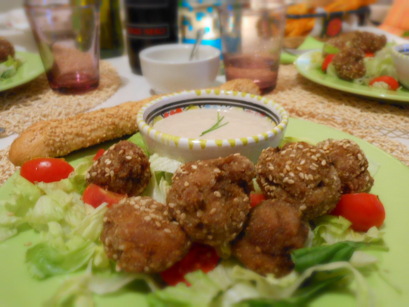 Ricetta Bocconcini Di Macinato Al Sesamo Con Crema Di Finocchi – Carne