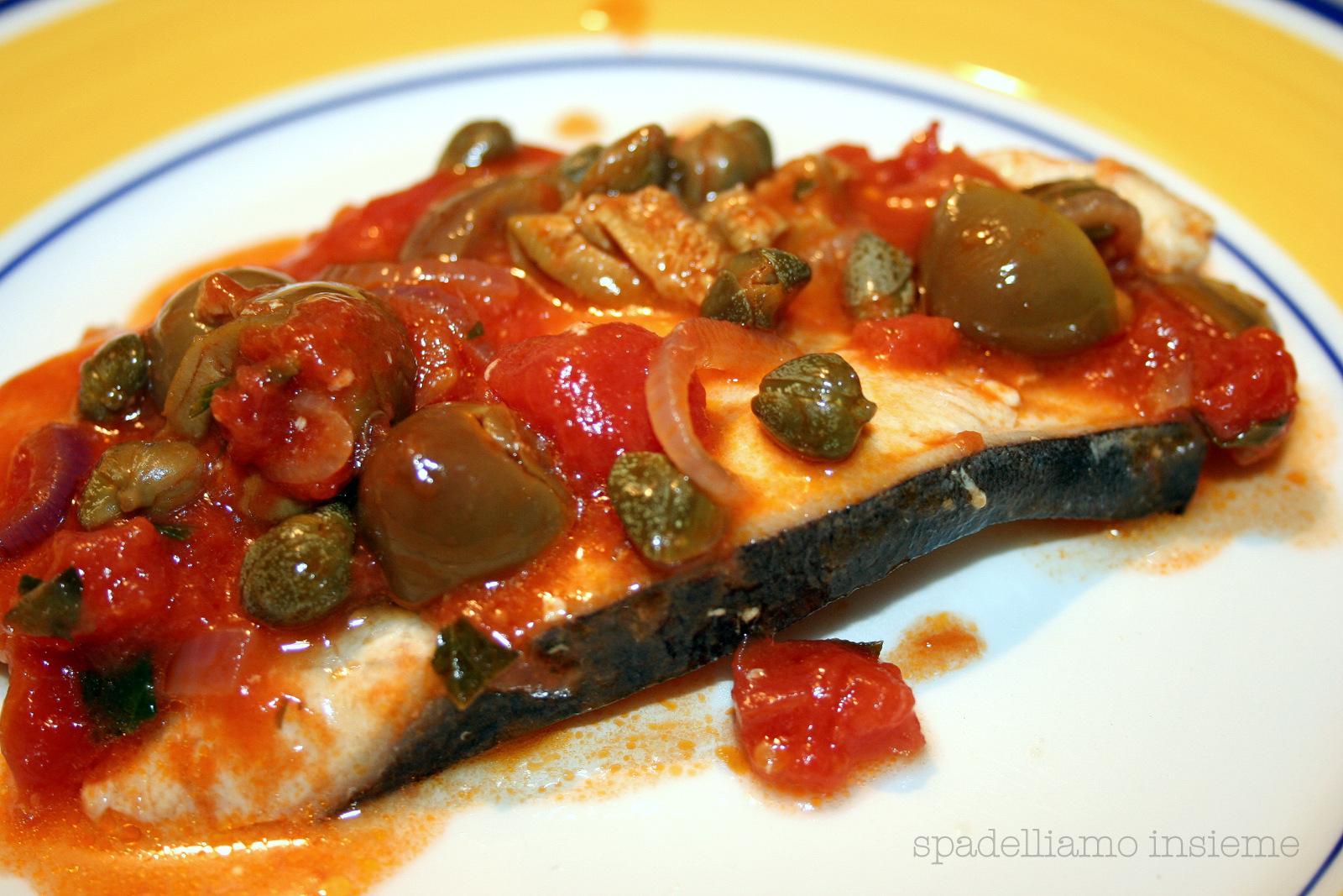 Ricetta Pesce Spada Alle Olive (2) – Pesce