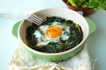 Ricetta Spinaci Al Parmigiano E Uova – Contorno