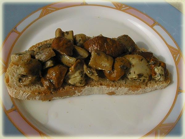 Ricetta Bruschetta Con Porcini – Antipasto