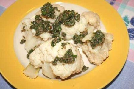 Ricetta Cavolfiore In Salsa Verde – Contorno