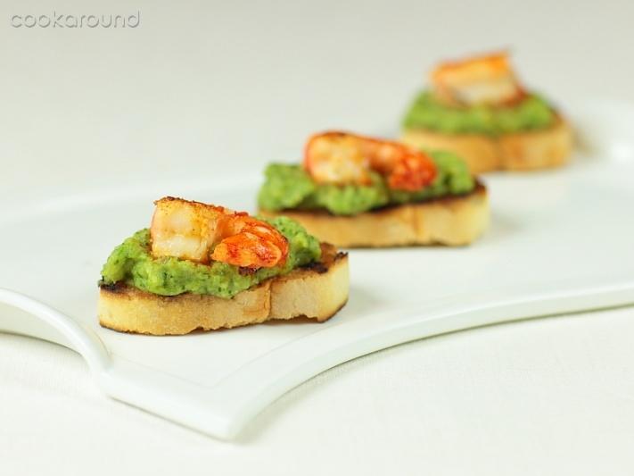 Ricetta Code Di Scampi Su Crostoni – Pesce