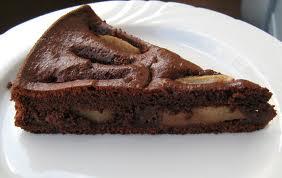 Dessert con pere e cioccolato