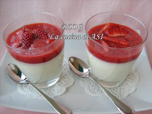 Ricetta Panna Cotta Con Frullato Di Fragole – Dessert