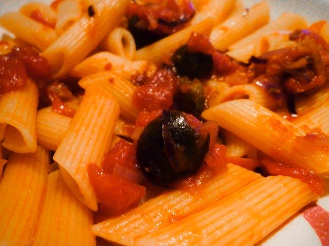 Ricetta Penne Alle Olive Nere – Primo
