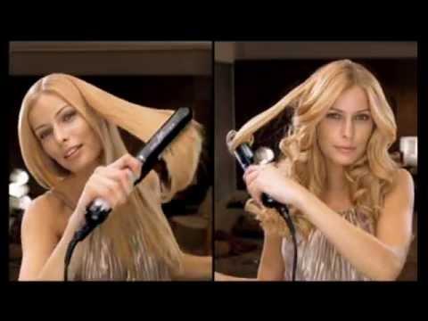 Piastre per capelli che lucidano lisciano ed arricciano