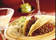 Tacos messicani di carne trita