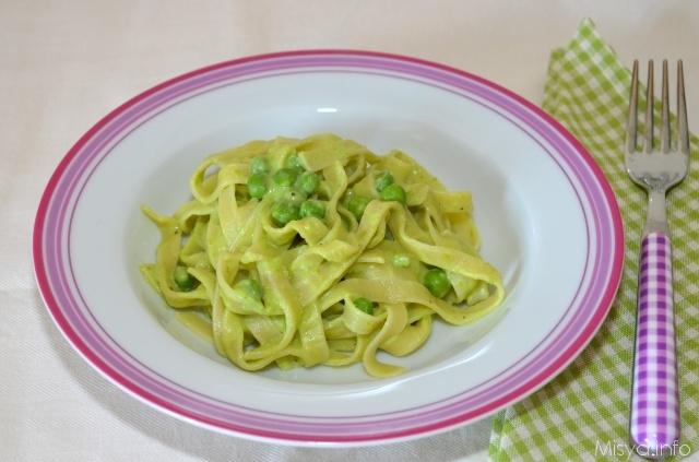 Ricetta Lasagnette Alla Crema Di Piselli – Primo