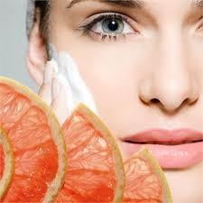 Maschera per viso all'arancia