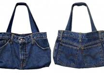 Come si crea una borsa da jeans vecchi?