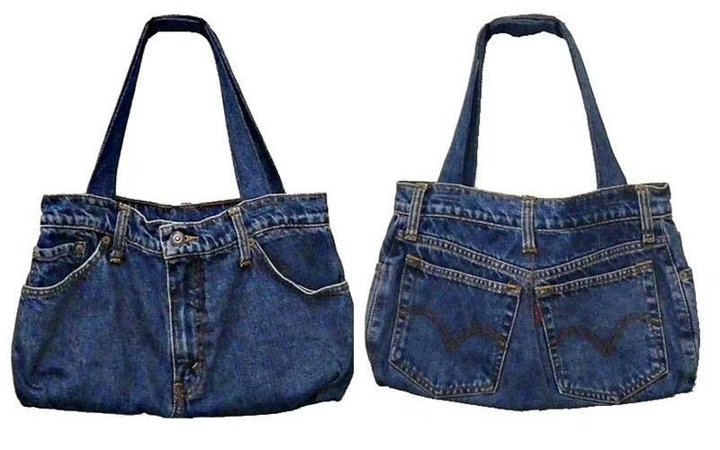 Come si crea una borsa da jeans vecchi donne magazine for Borse fai da te jeans