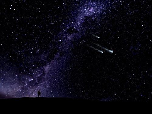 couple light night shooting stars sky Favim.com 136867