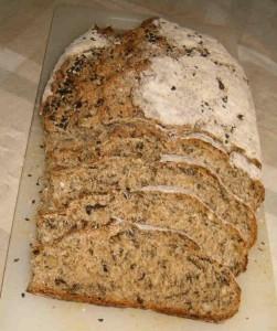 Pane fatto in casa con l'alga