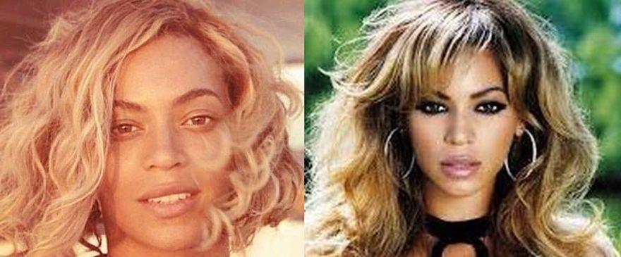 Beyoncé senza trucco