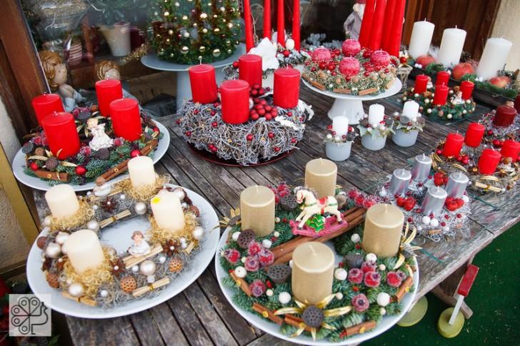 Idee centrotavola Natale con candele