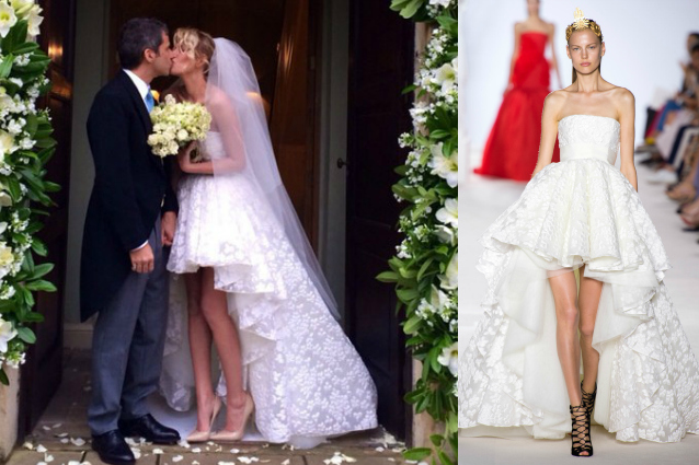 Modello abito sposa Giambattista Valli di Alessia Marcuzzi