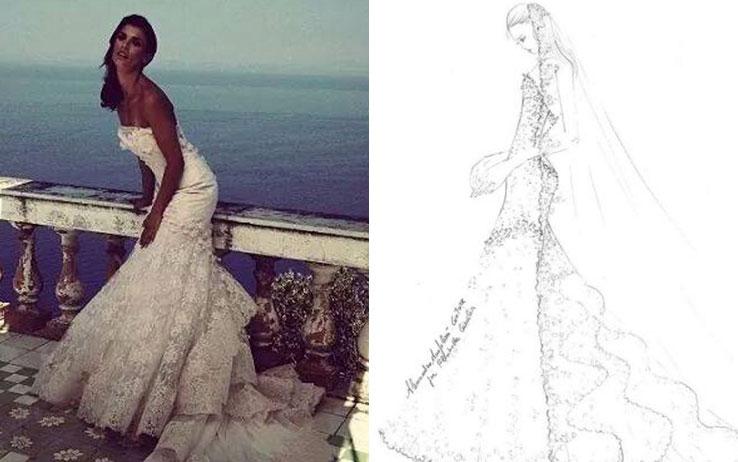 Come realizzare un abito da sposa stile Elisabetta Canalis