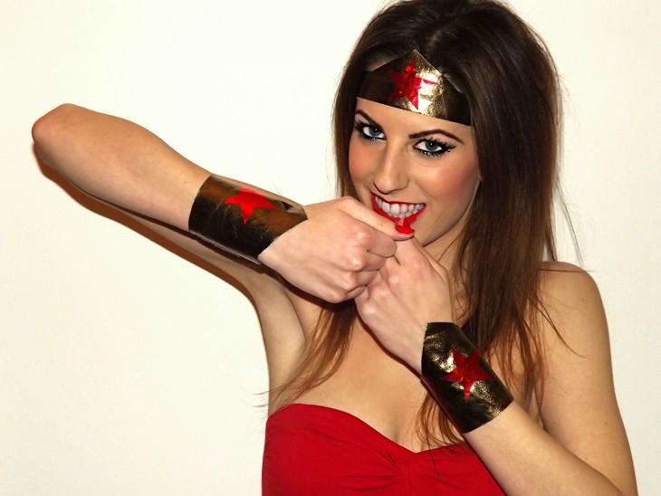 Tutorial trucco Carnevale Wonderwoman