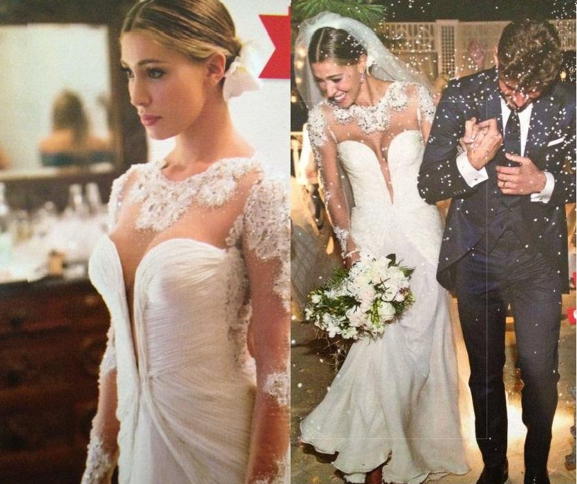 orologio 10b4d e8d46 Modello Daniele Carlotta abito sposa Belen Rodriguez