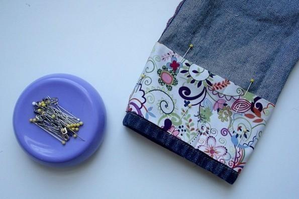 Decorare Casa Con Il Denim : Come abbellire vecchio jeans con risvolto fai da te