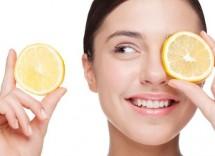 Maschera per il viso al limone