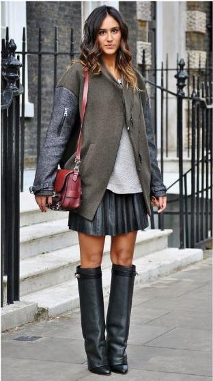 vasta selezione di 16aa9 a887b Come indossare la gonna con stivali alti
