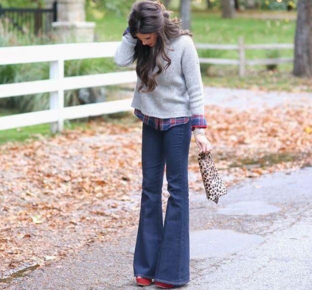 Come indossare jeans a zampa d'elefante