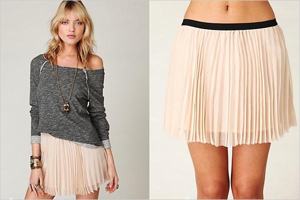 hot pleated mini skirts