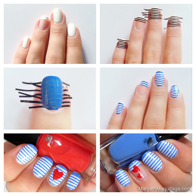 Tutorial nail art con strisce