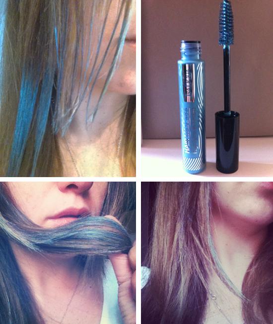 Come applicare mascara colorato per capelli