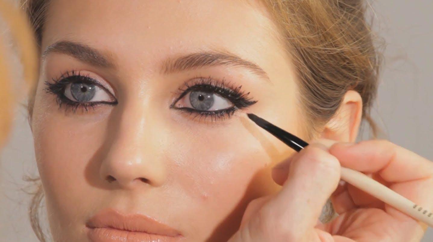 Tutorial trucco cat eye Kate Moss