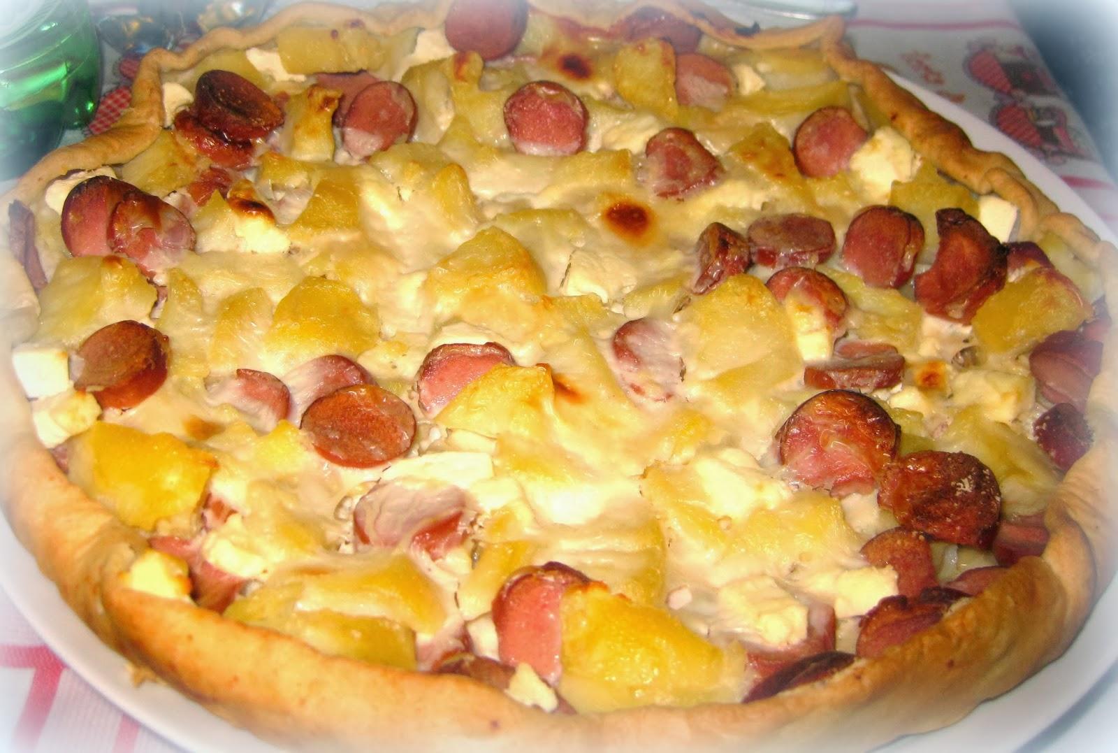 Ricetta facile torta salata wurstel patate e mozzarella
