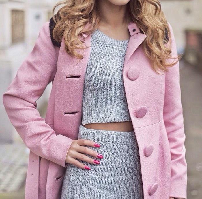 Come abbinare cappotto rosa