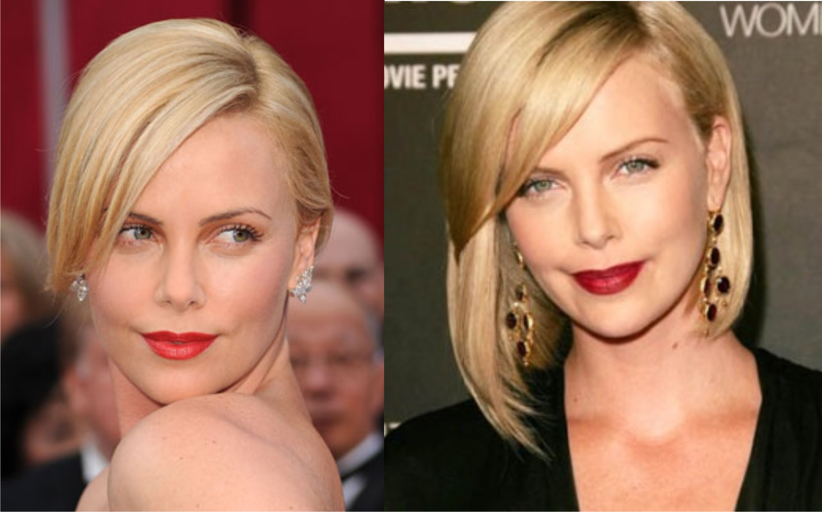 Tutorial trucco rossetto rosso Charlize Theron