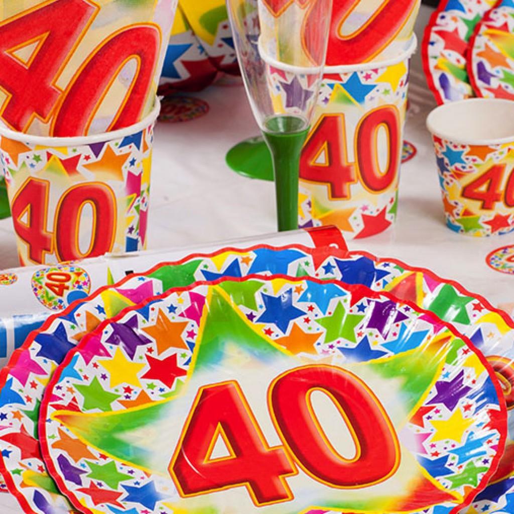 Festa Di Quarant Anni idee originali per decorare tavola festa 40 anni   donne