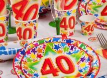 Idee originali per decorare tavola festa 40 anni