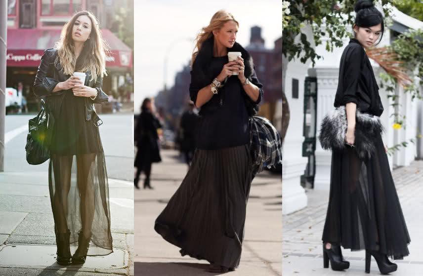 Come indossare gonna lunga in inverno