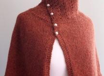 Modelli mantella di lana ai ferri