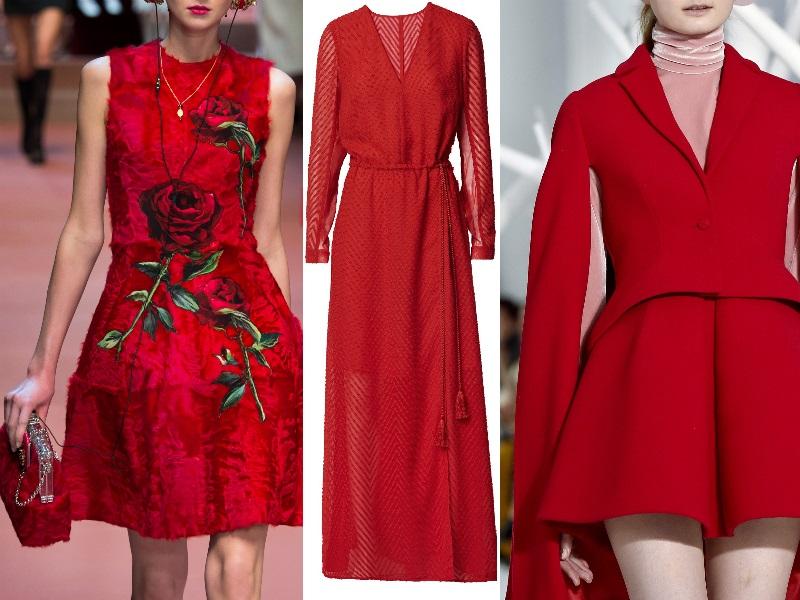 10 look Capodanno abito rosso