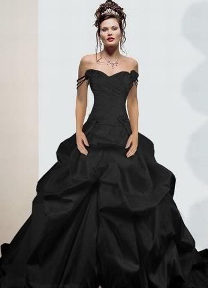 10 modelli abiti da sposa neri 2016