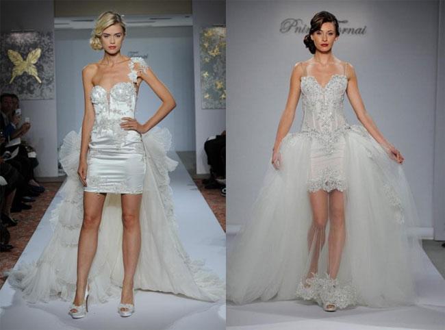 Modelli abiti corti da sposa primavera 2016