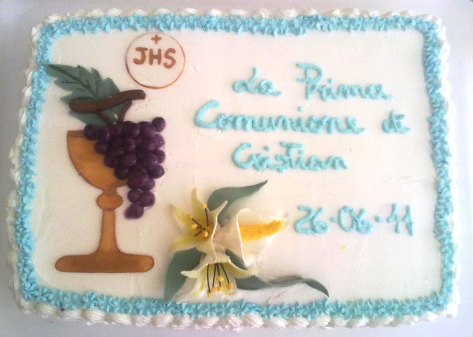 Idee torte con panna per prima comunione