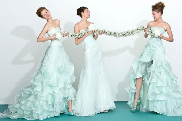 Modelli abiti colorati sposa primavera 2016
