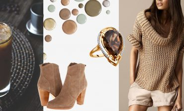 5 look in Iced Coffee colore Pantone p/e 2016