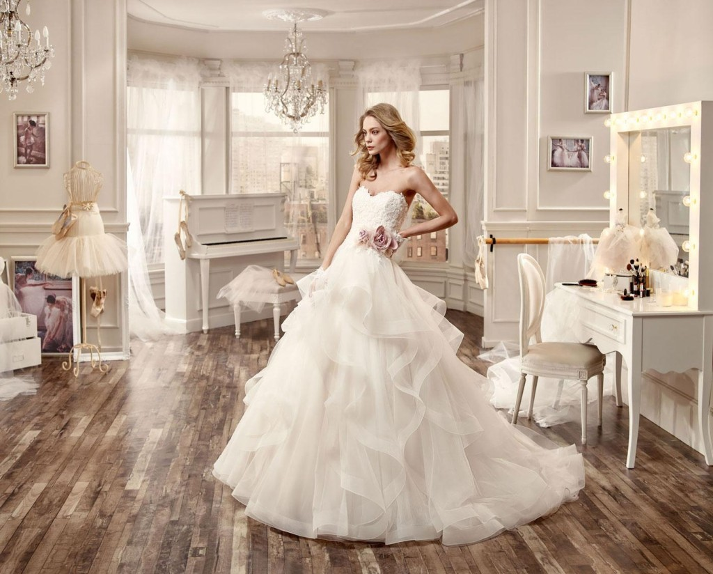 Abiti da sposa in organza per estate 2016