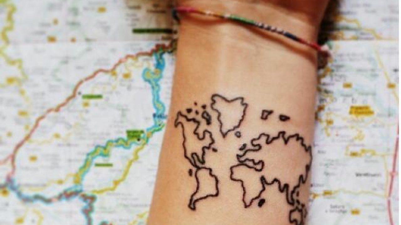 Cartina Mondo Tatuaggio.5 Tatoo Adatti Per L Estate Donne Magazine