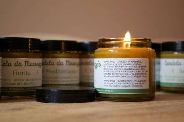 Come preparare candela da massaggio olio di argan