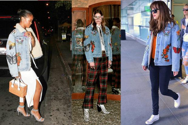 Le stelle dell'indumento: la giacca con patch di Gucci