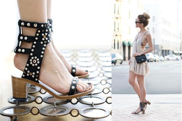 I sandali di chiodini di Isabel Marant